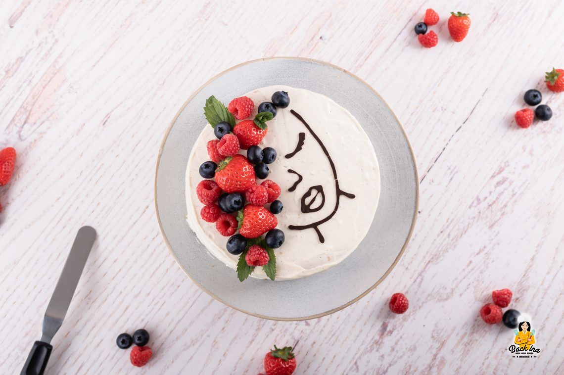 Face Cake (Beeren-Prosecco-Torte mit Mascarponecreme)