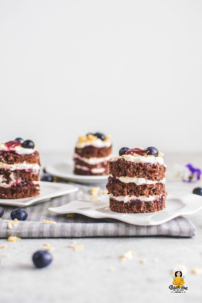 Mini-Törtchen mit Schokolade und Frischkäse