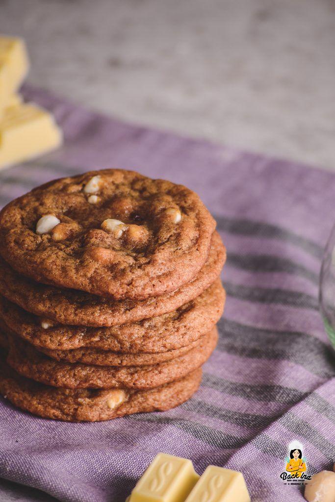 Rezept für Subway Cookies mit Macadamia und weißer Schokolade