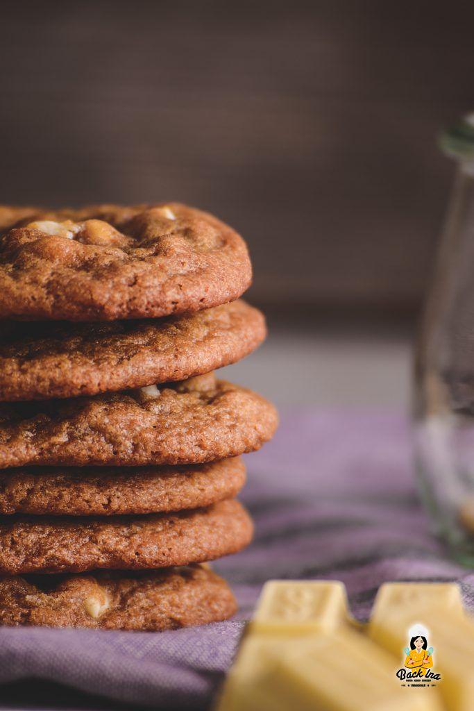 American Cookies wie bei Subway mit weißer Schokolade und Macadamias