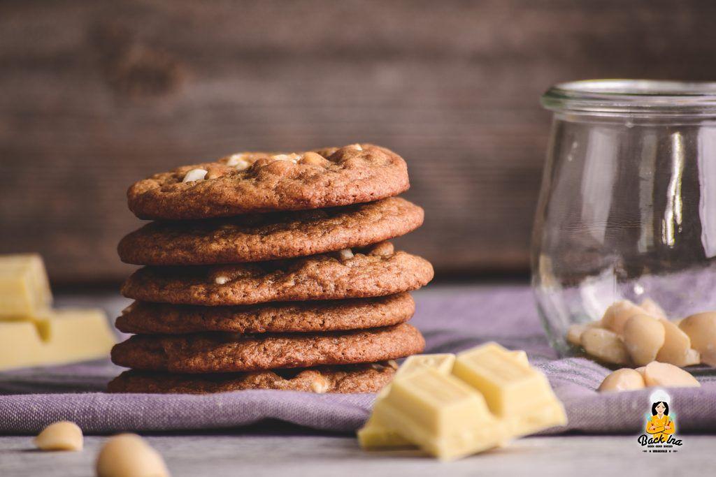White Chocolate Macadamia Cookies selber machen