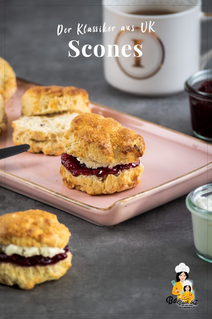Suchst du ein Rezept für klassische Scones? Dieses britische Rezept mit Buttermilch ist herrlich locker und perfekt zum Nachmittagstee oder morgens zum Frühstück. | BackIna.de