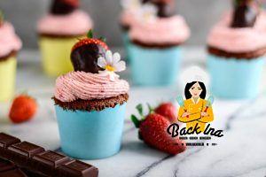 Schoko Erdbeer Cupcakes