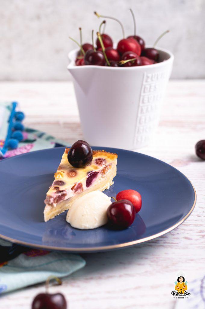Kirschkuchen mit Sahne-Füllung: Französischer Clafoutis