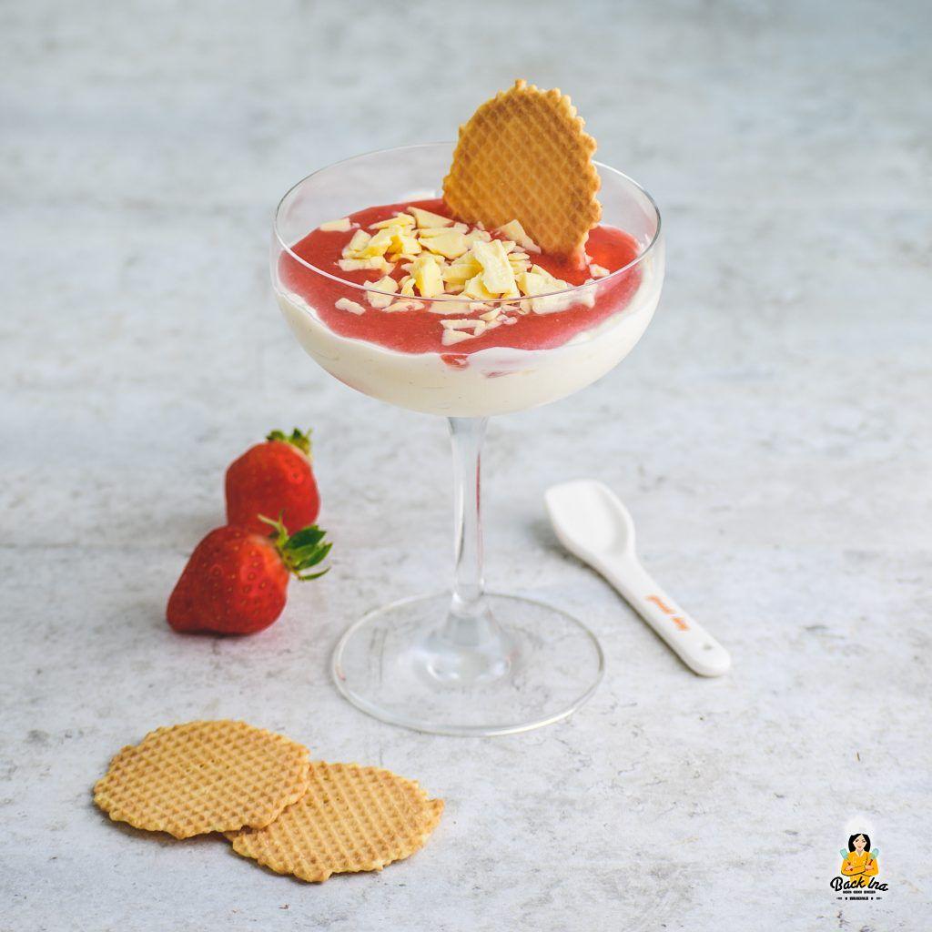 Spaghetti Eis mal anders - als Dessert im Glas