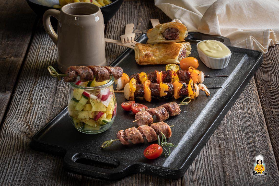 Fränkisch Grillen: Bratwurst Tapas