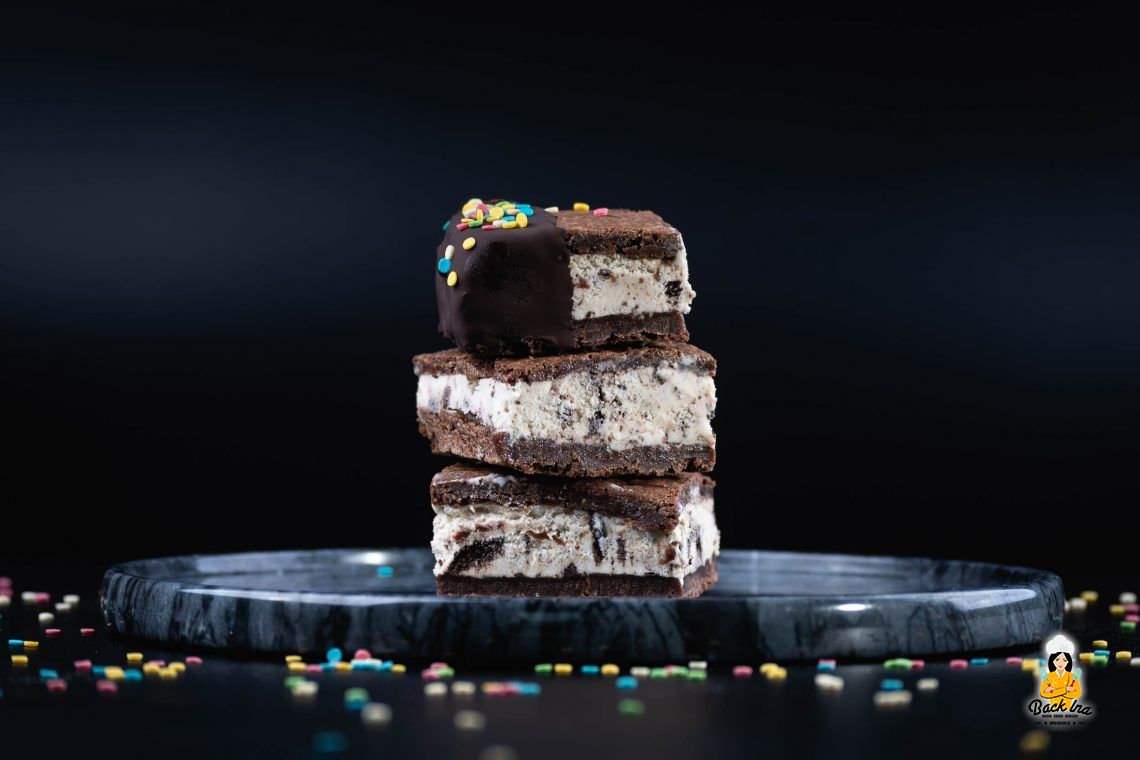 Eiskalt schokoladig (Brownie Eiscreme Sandwiches)