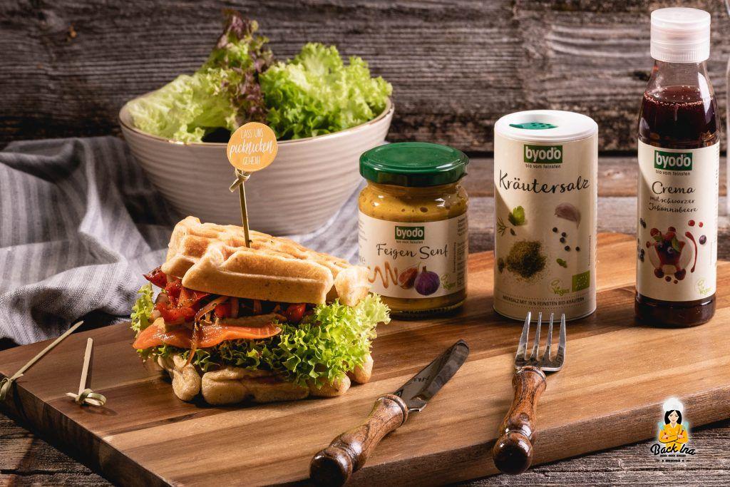 Waffelsandwiches mit Byodo Produkten