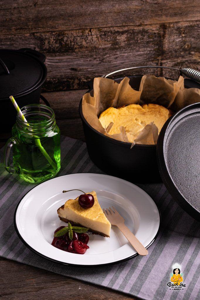 Omas Käsekuchen als Variante vom Grill