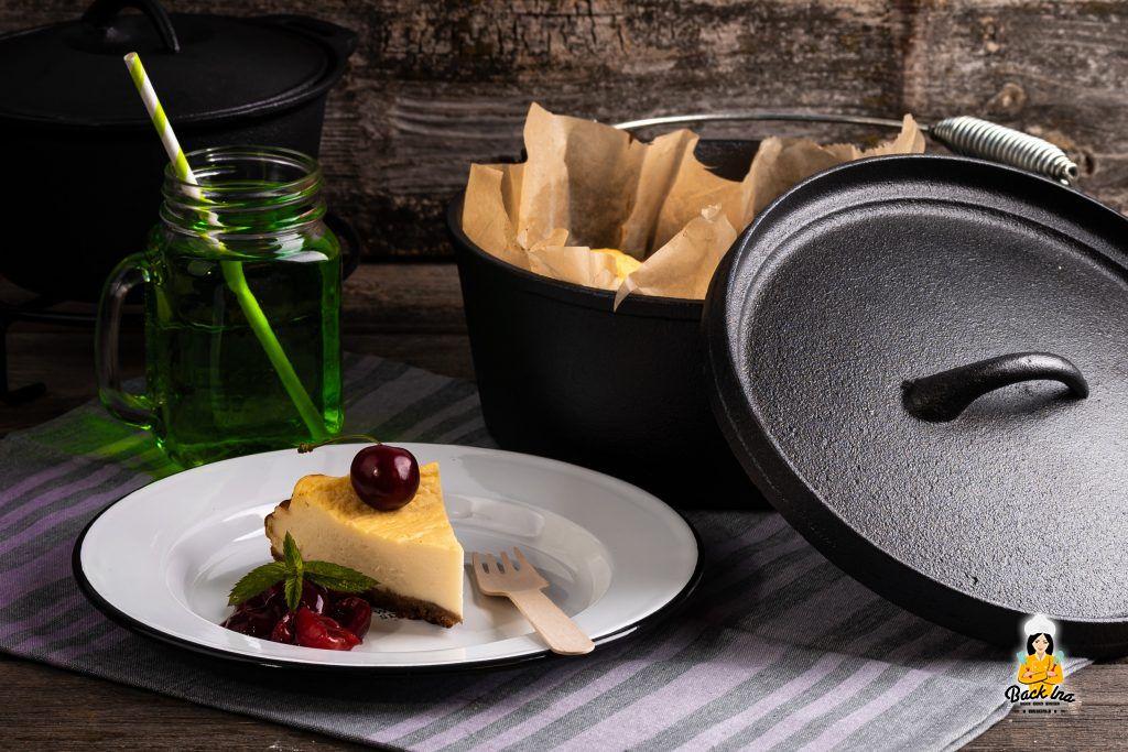 Käsekuchen vom Grill bzw aus dem Dutch Oven