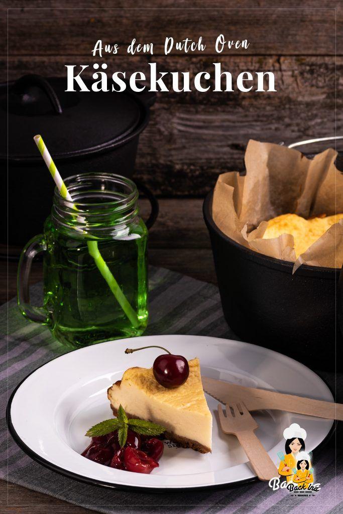 Käsekuchen vom Grill - geht das überhaupt? Ja, denn Omas Klassiker lässt sich im Dutch Oven hervorragend backen! | BackIna.de