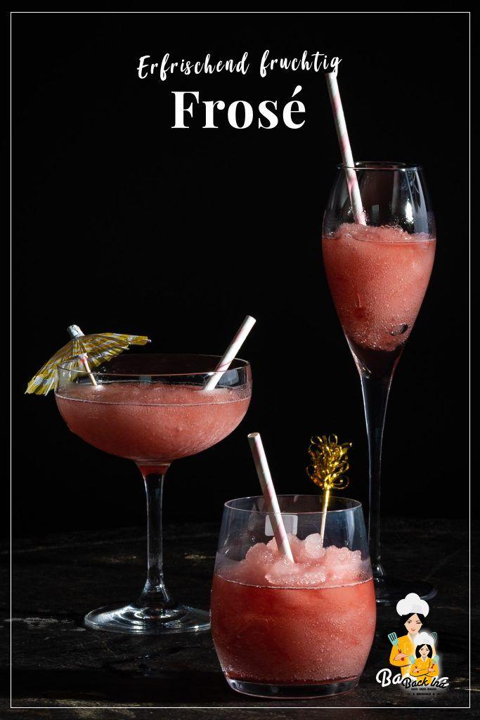Frosé - das neue Trendgetränk für den Sommer! Gefrorener Wein als Slushie mit Cranberries und Zitrone - ein herrlich erfrischender Frozen Cocktail mit Wein und fruchtigen Noten. Probiere unbedingt diesen Cocktail mit Rosé Wein! | BackIna.de