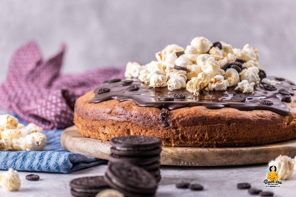 Bananenkuchen mit Oreos und Schokolade