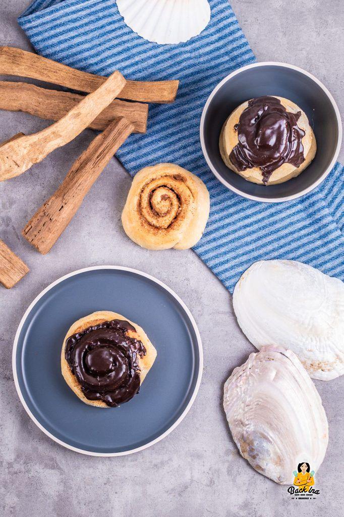 Zimtschnecken aus Island mit Schoko-Butter-Glasur