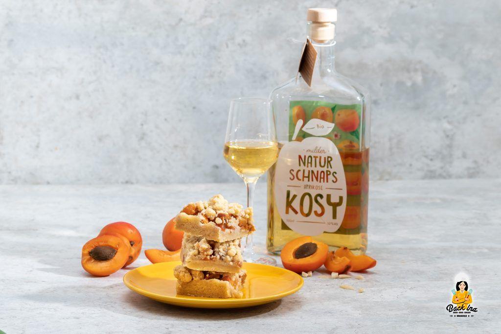 Aprikosen Streuselkuchen mit Mandeln