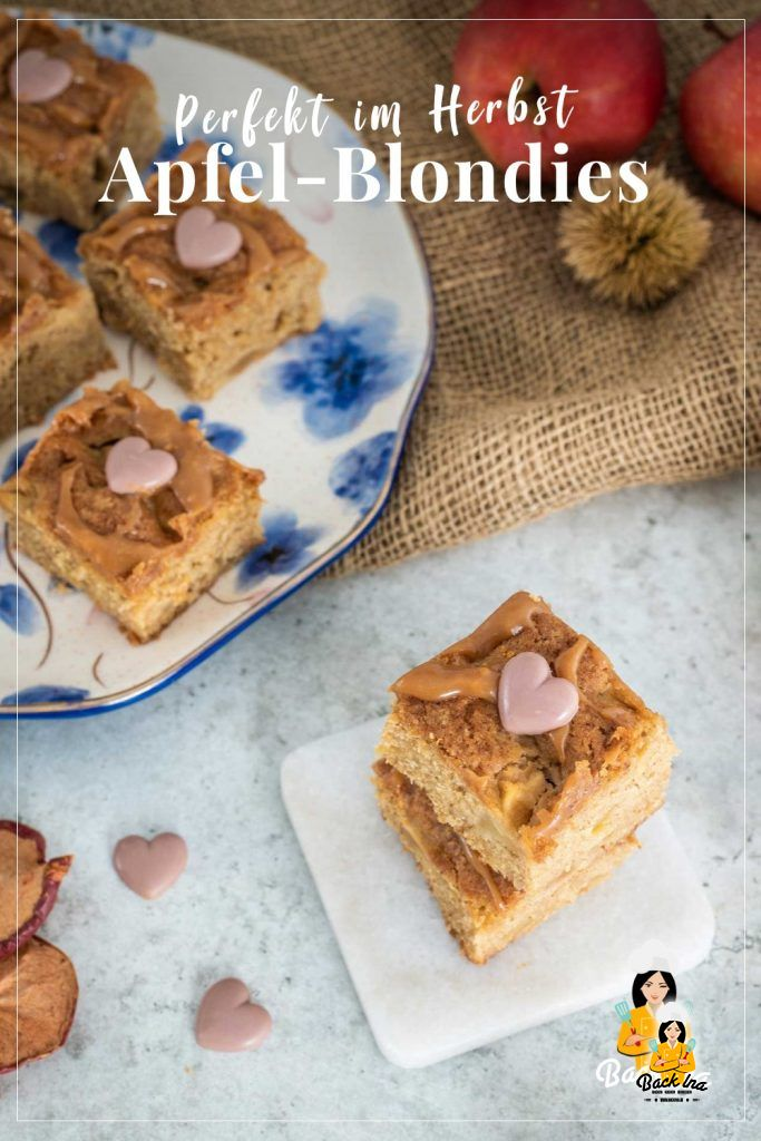 Saftig, fruchtig und karamell: Diese Apfel-Blondies mit brauner Butter sind schnell gemacht und perfekt als herbstliche Leckerei. Der Teig wird ähnlich wie bei Brownies gemacht, nur eben ohne Schokolade. Dafür kommen braune Butter und brauner Zucker in den Rührteig, damit der Teig schön karamellig schmeckt. Probiere diesen einfachen Blechkuchen für den Herbst!