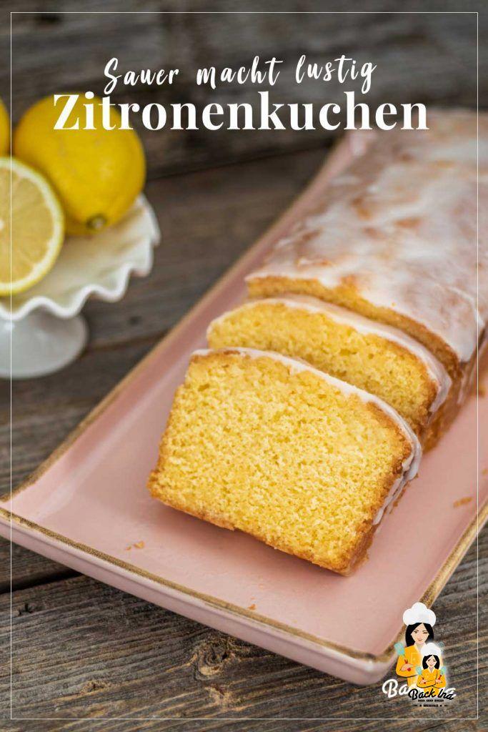 Schön saftig und gleichzeitig säuerlich: Dieser einfache Zitronenkuchen aus Rührteig mit echter Zitrone ist einfach und lecker! Probiere diesen schnellen Rührkuchen aus der Kastenform unbedingt aus! | BackIna.de